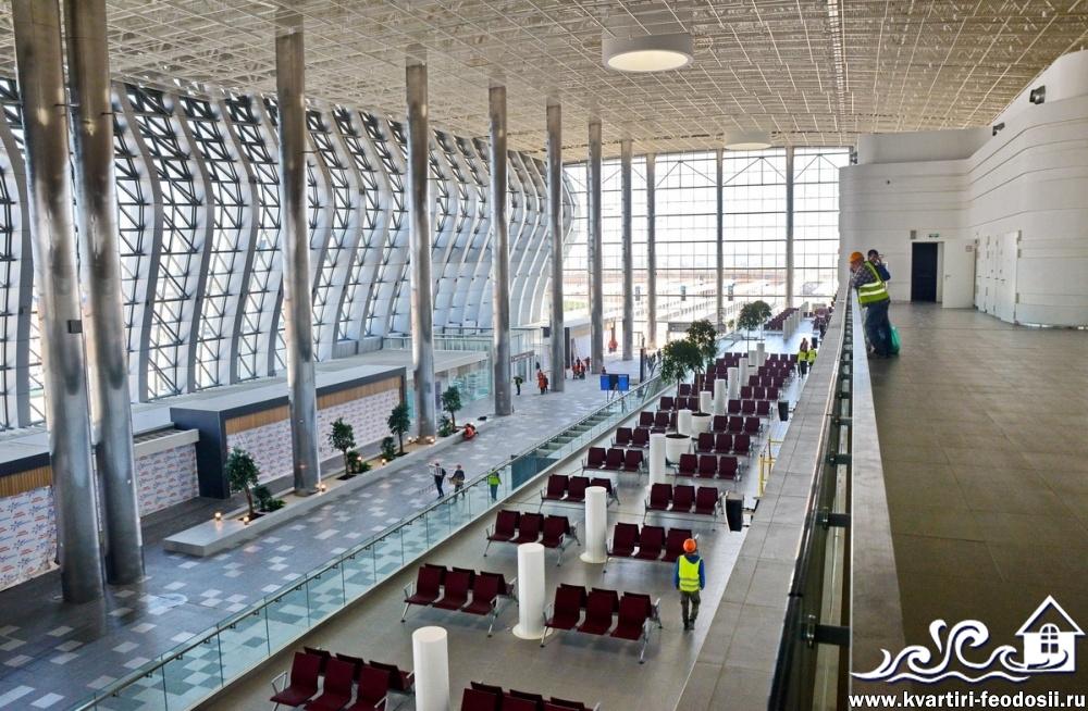 Внутри аэропорта Симферополя