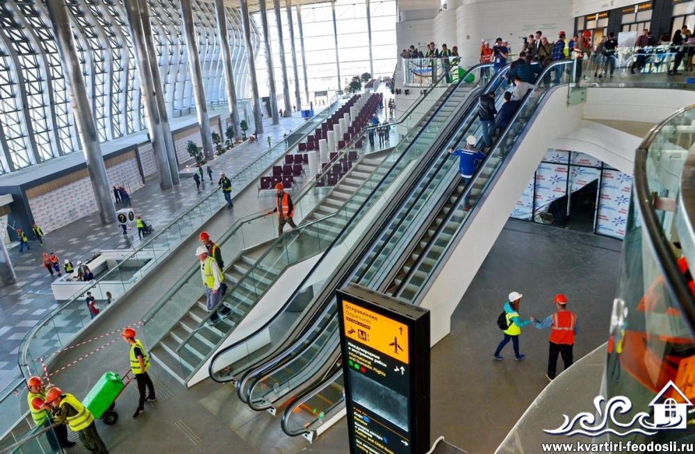 Эскалаторы аэропорта Симферополь