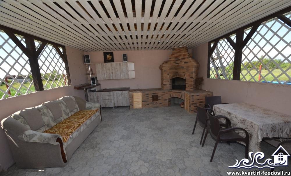Русская печь и мангал в комплексе на песчаной балке