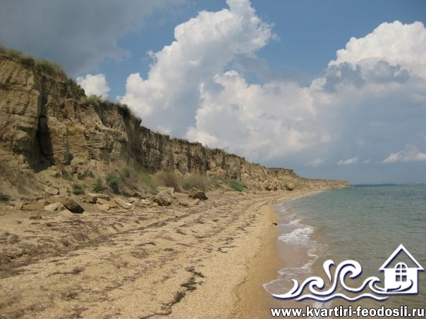 Пляжи на Тобечикской пересыпи