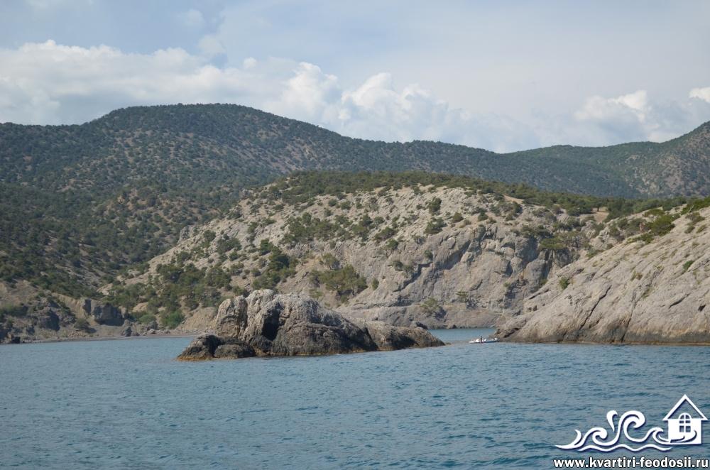 Островок в виде черепашки возле мыса Капчик Новый Свет