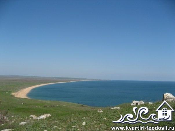 Пляж мыса Опук со стороны керчи
