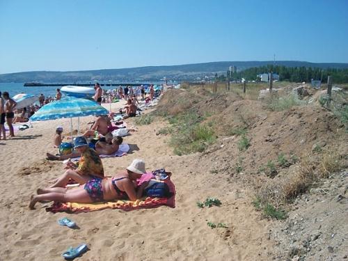 Пляж Феодосии до 2-го городского