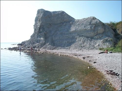 Пляж Феодосии у мыса Чауда