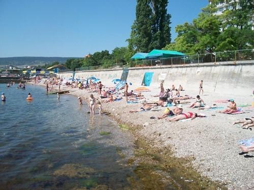 Пляж  санатория Министерства обороны и базы отдыха
