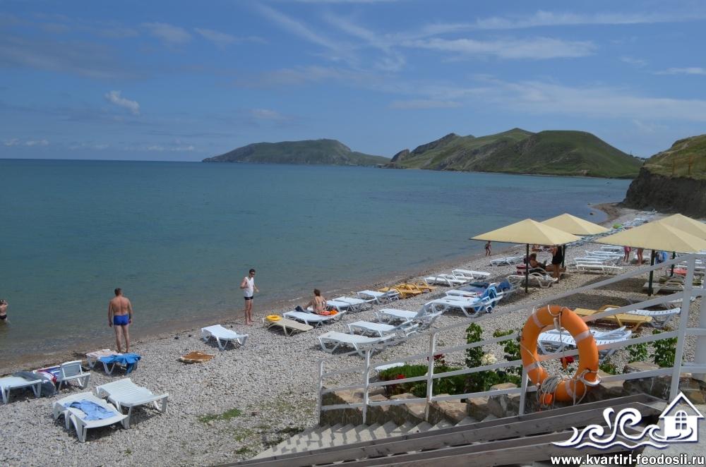 Пляж на эллингах Катран в Орджоникидзе