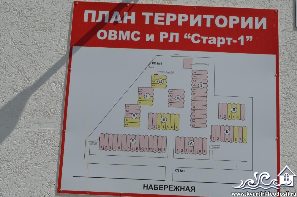 План территории эллингов Старт в пос. Орджоникидзе