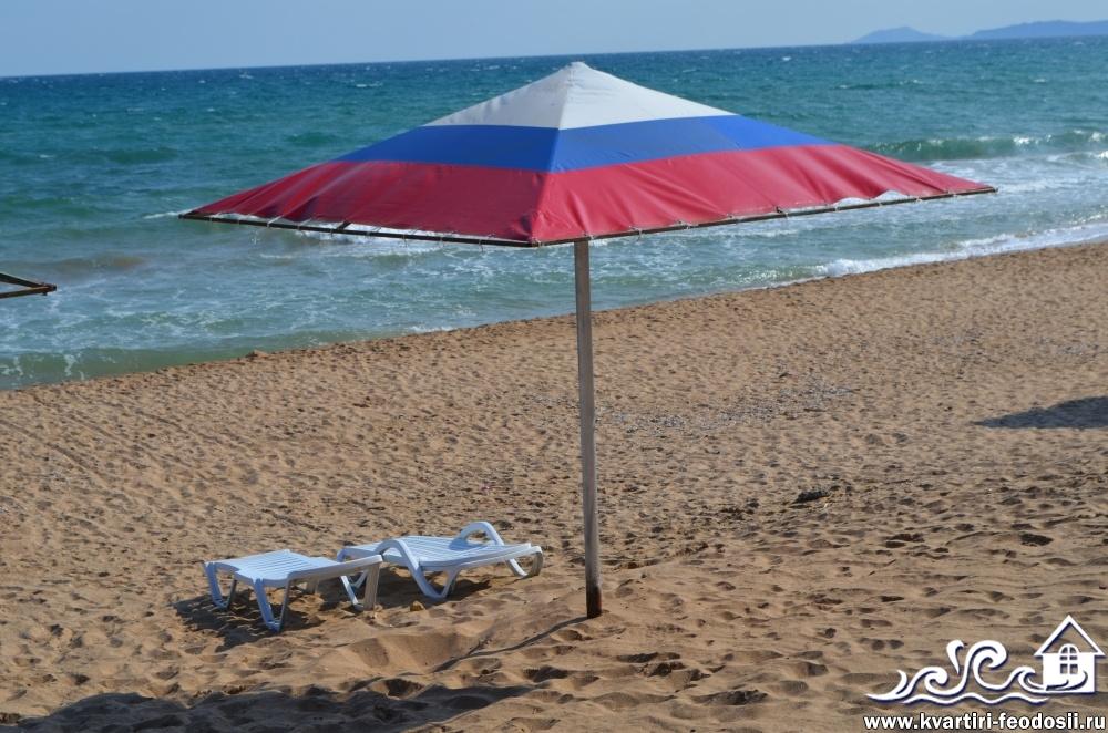 Навесы на пляже Песчаная балка