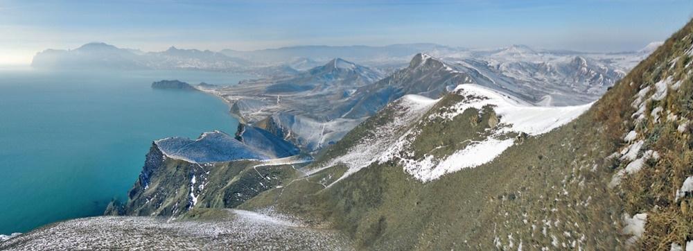 Зимний пейзаж бухт Коктебеля
