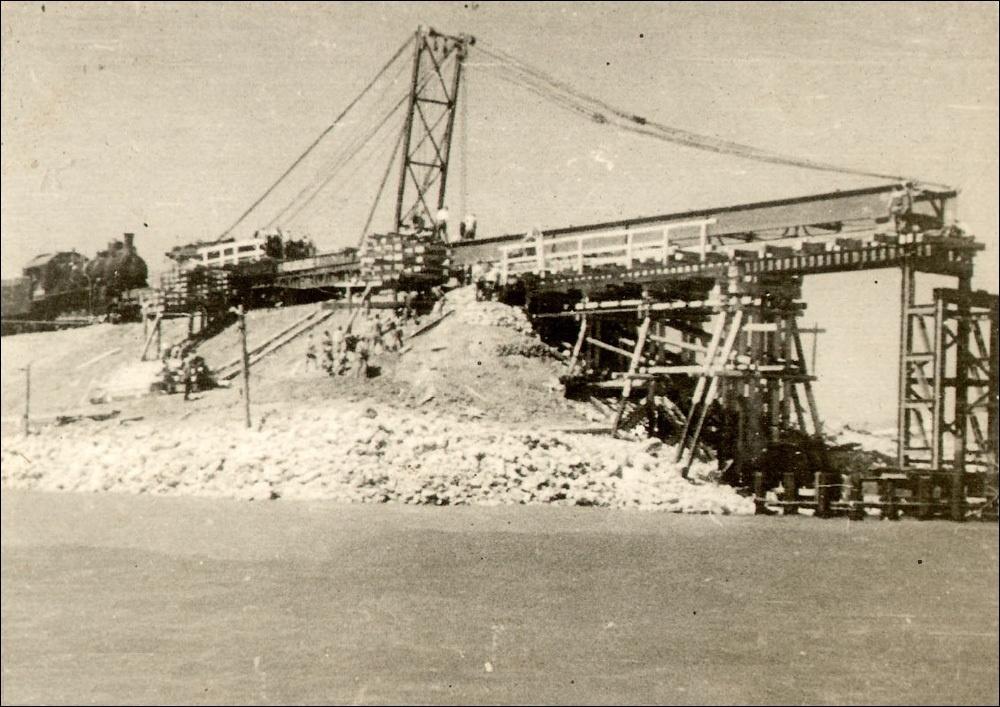 начало строительства моста через Керченский пролив в 1944 году