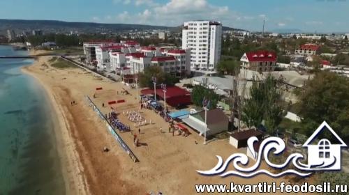 Пляжный стадион в Феодосии
