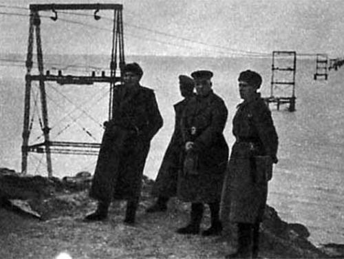 фото начало строительства моста